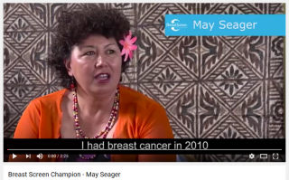 Breast screening champion